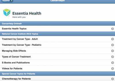 Mobile-Friendly Website for Patient Education – Home Page