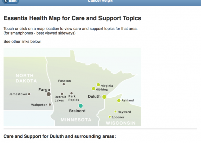 Mobile-Friendly Website for Patient Education – Map