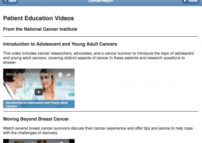 Mobile-Friendly Website for Patient Education – Videos