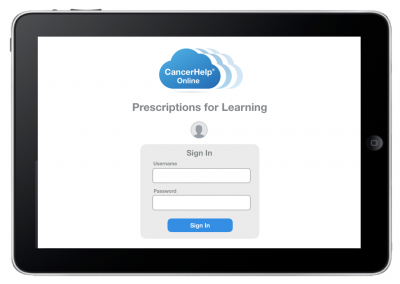 "Web App ""Prescriptions for Learning"" – Sign In Screen"